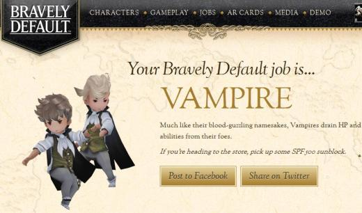 Your Bravely Default job is VAMPIRE